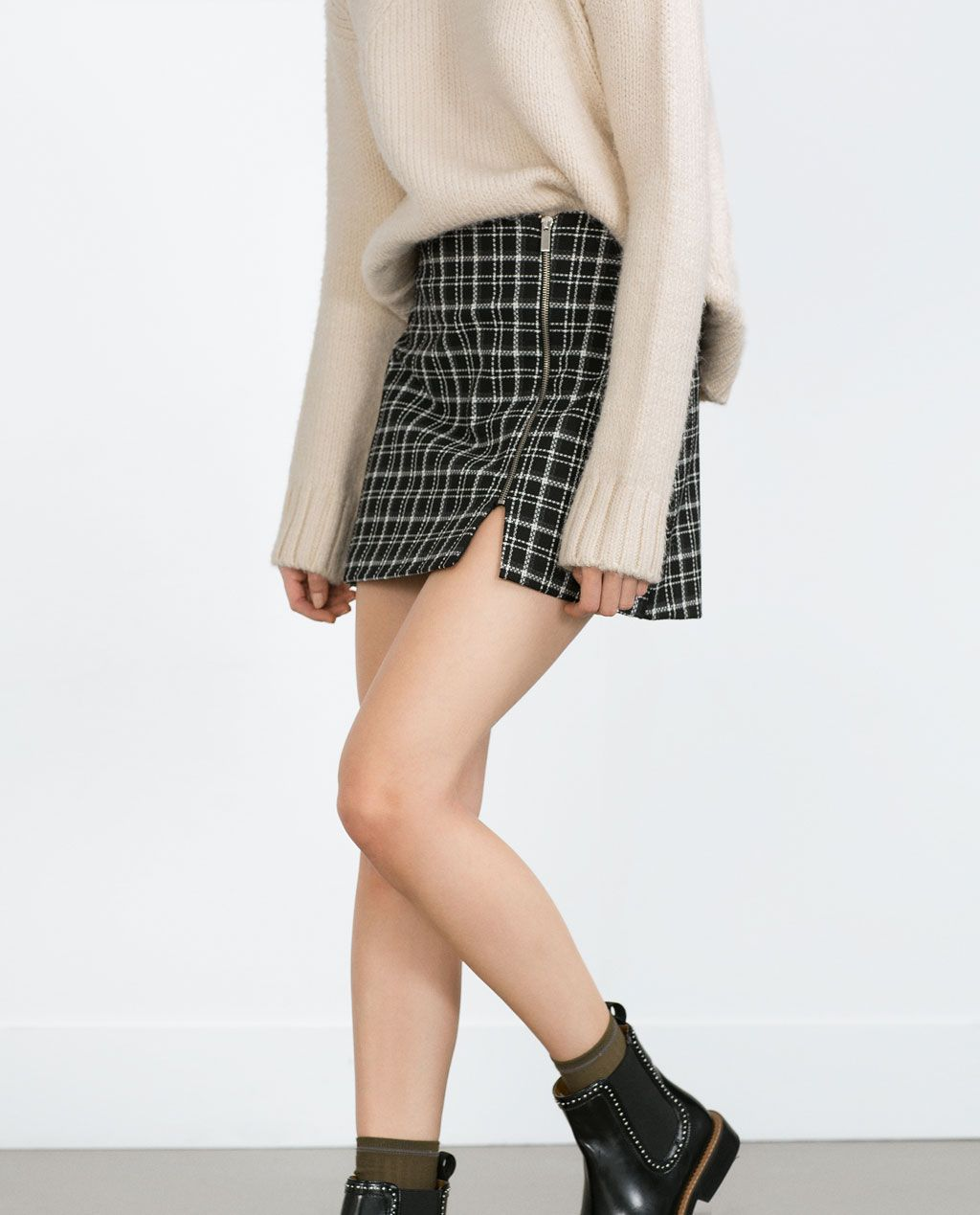 Imagen 2 de FALDA CUADROS de Zara | Dresses... casual | Pinterest ...