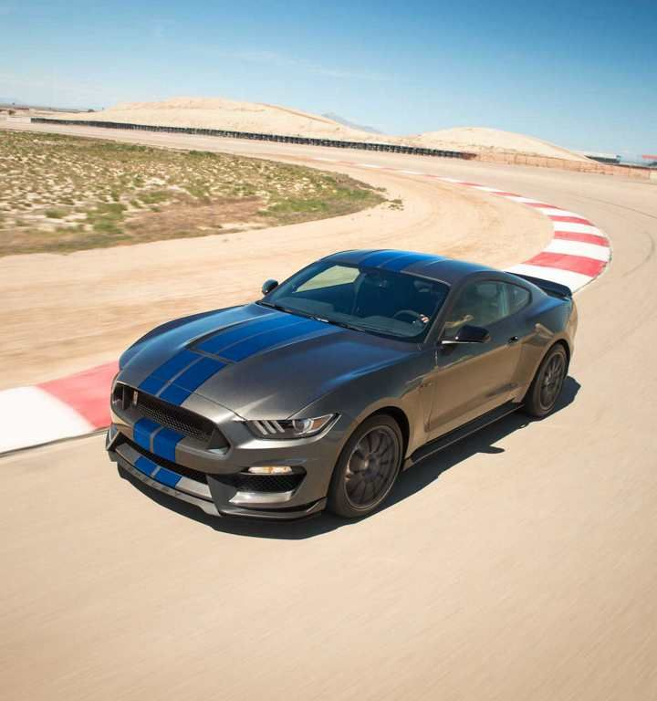 2018 Shelby GT350 Taking A Curve On A Racetrack