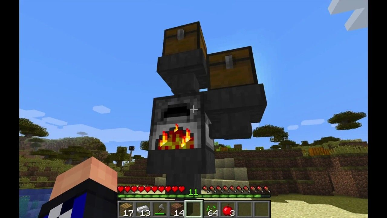 make a furnace in minecraft