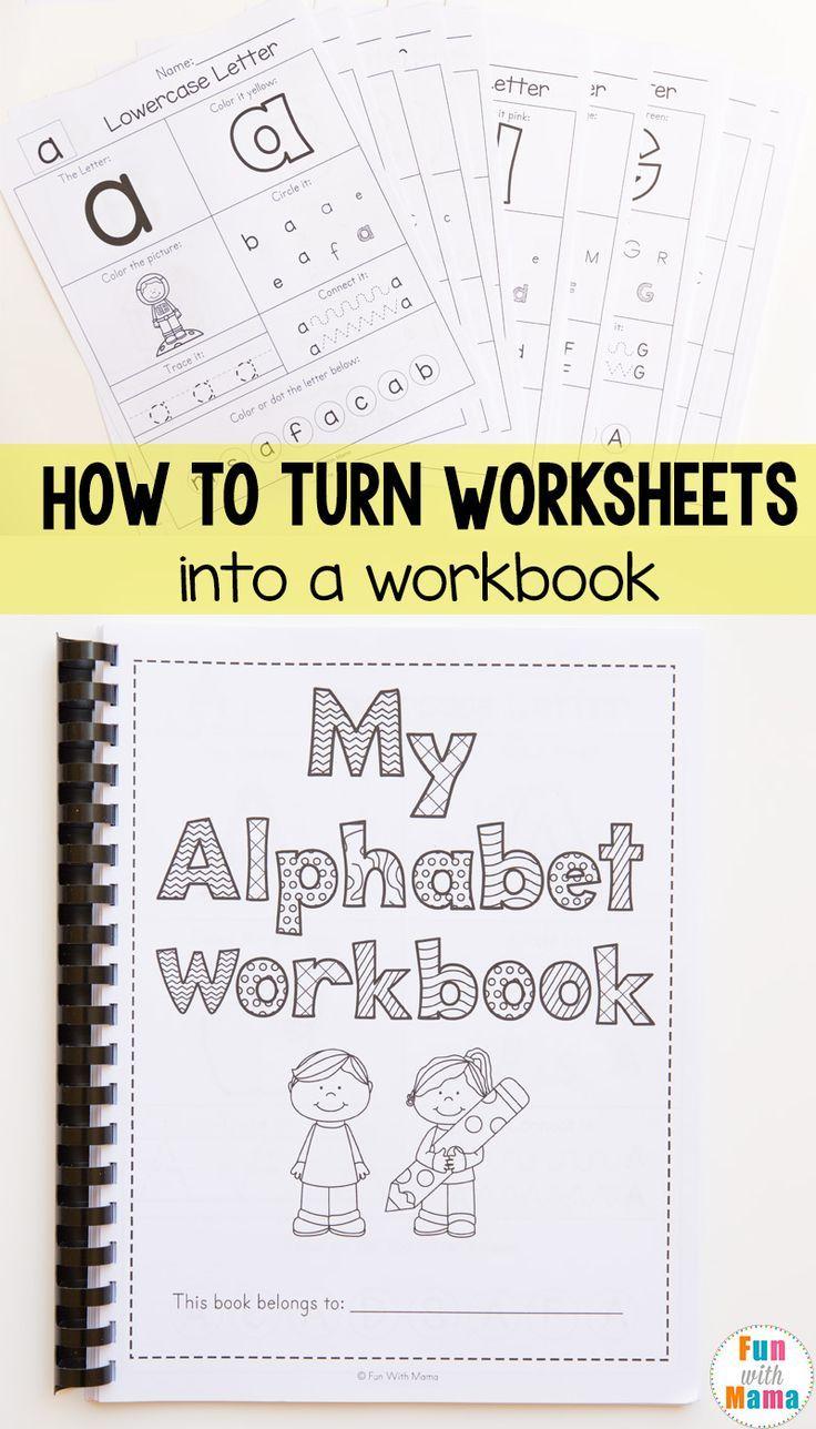 Homeschool Organization How to Bind A Book | Alphabet und Kind