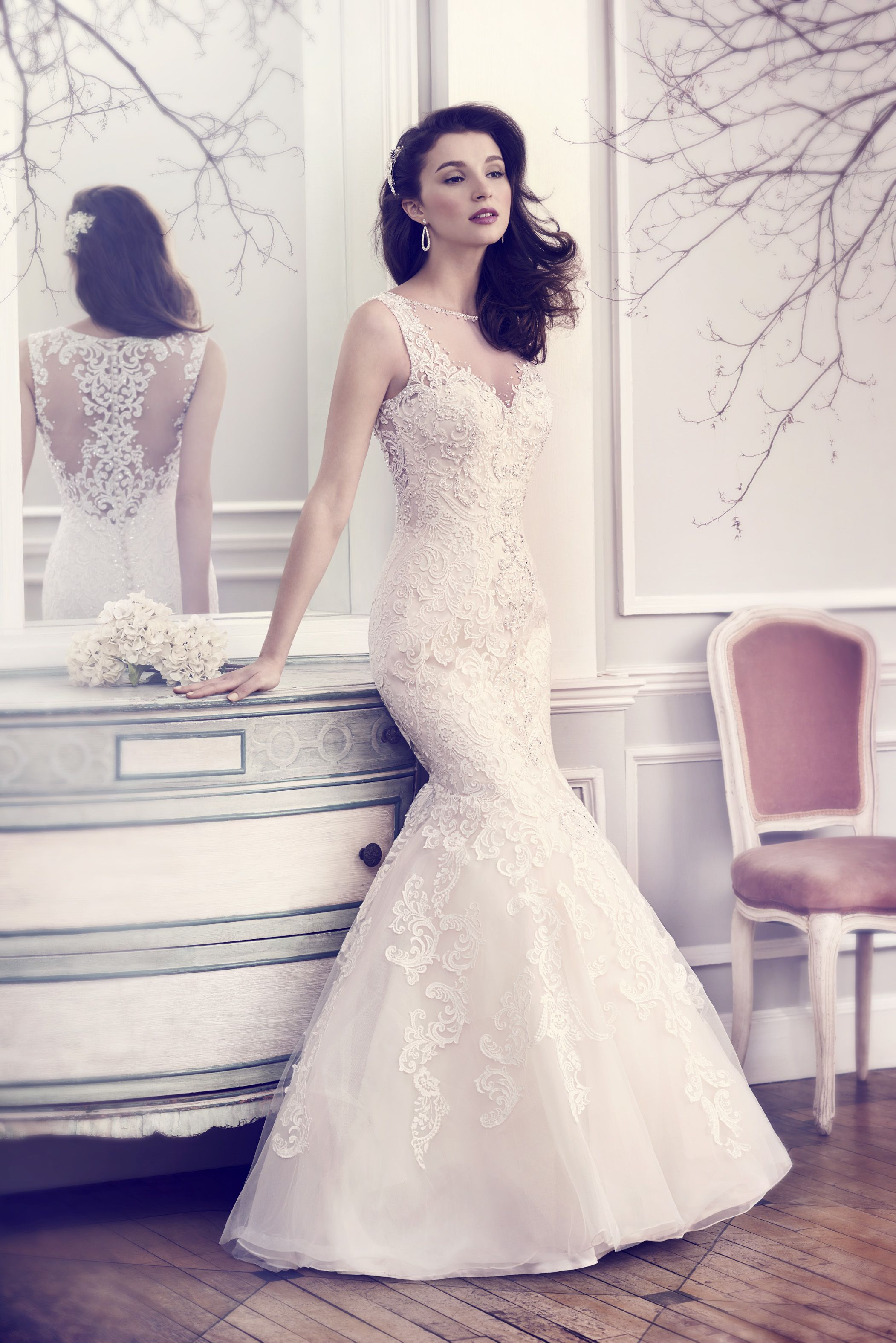 Wedding dresses with rhinestones  Kenneth Winston Spring  Bridal Collection  Bridal collection