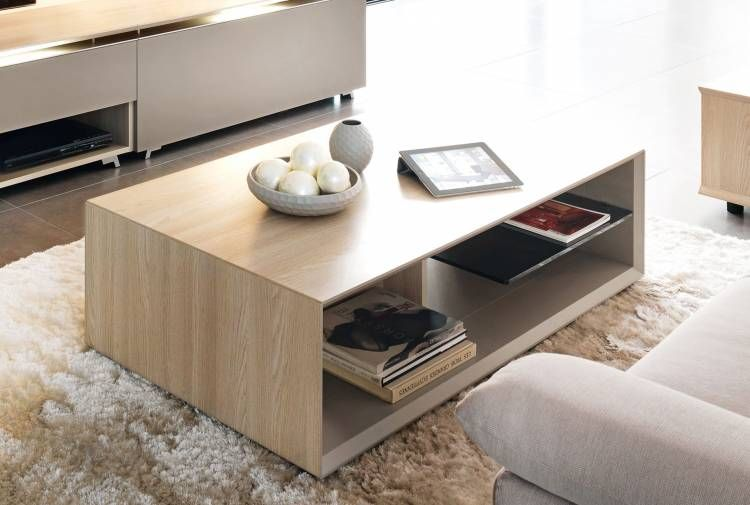 Table Basse Rectangulaire Tables Basses Meubles Gautier Rectangular Coffee Table Coffee Table Tempered Glass Shelves