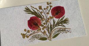 13 Tarjetas de invitación realizadas con flores secas (5)