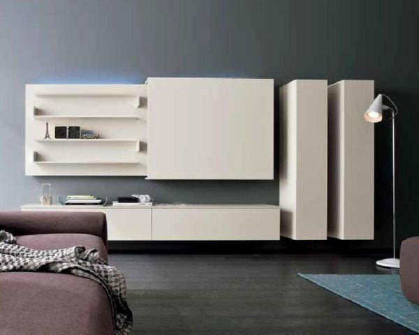 moderne Wohnwand verschiebbare tv paneele beige TV Pinterest TVs - wohnzimmer ideen fernseher