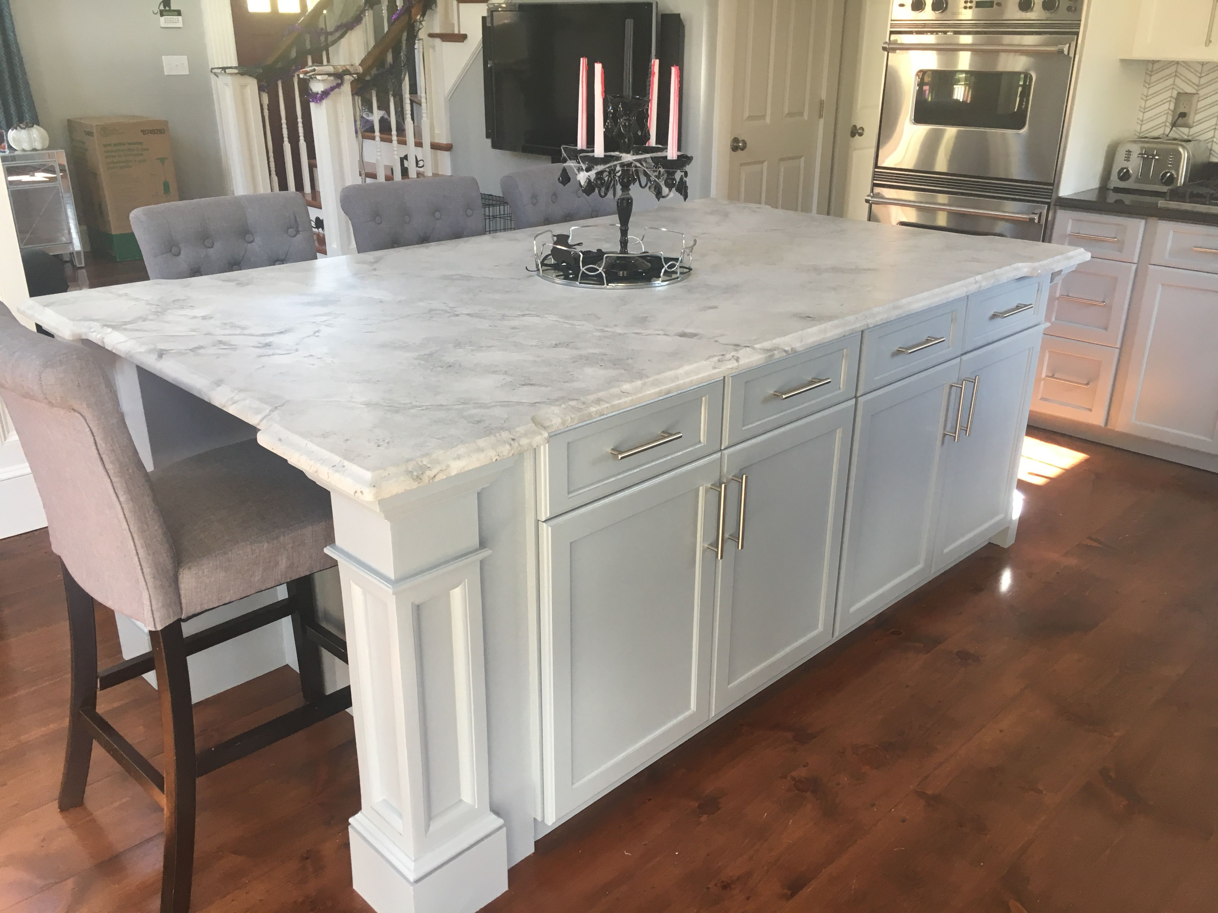 Kitchen Reno Wicked White Quartzite