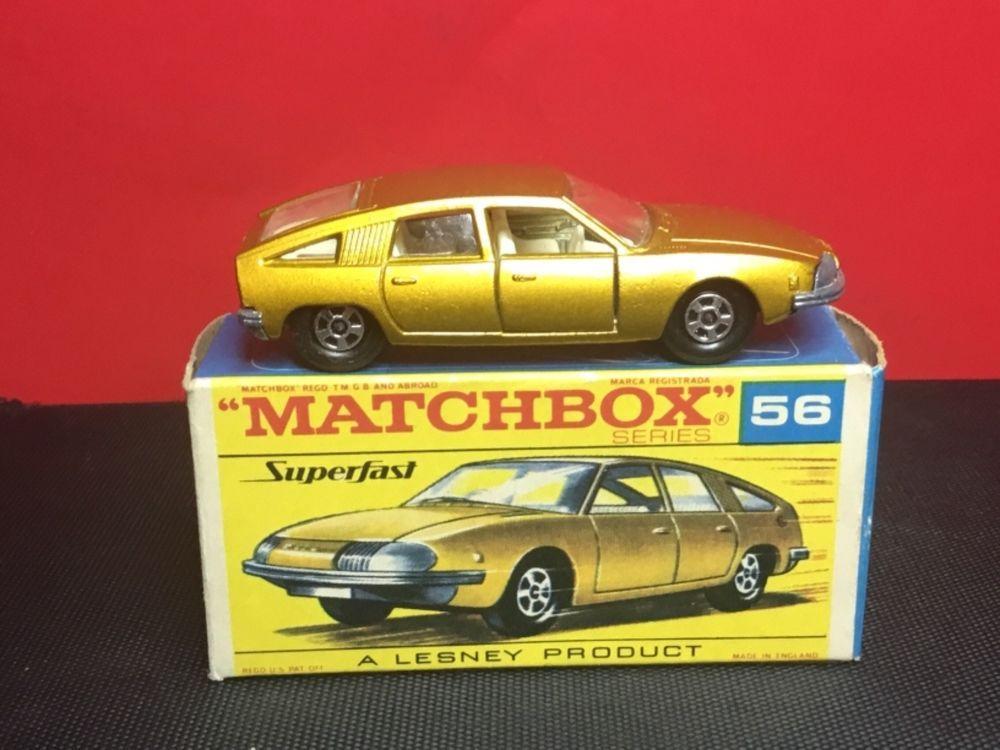 Rare 1969 Lesney Matchbox Superfast 56 A Bmc Pininfarina Transitional Mib Hot Wheels Toys Matchbox Diecast Toy