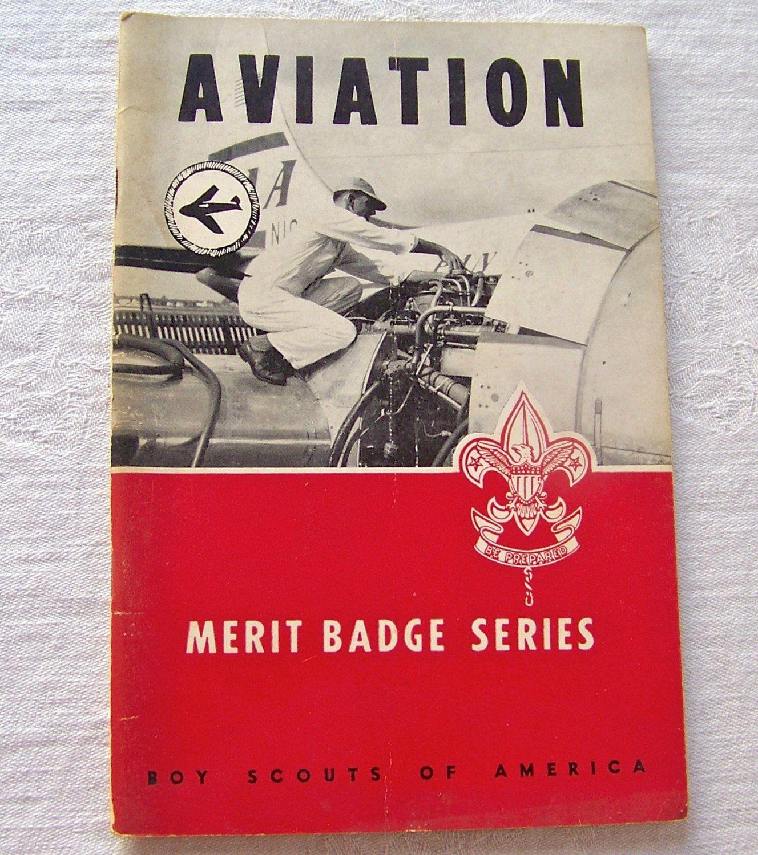 Vintage Boy Scout Booklet Aviation Merit Badge