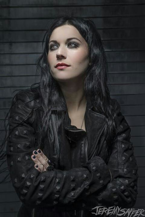 #Goth girl and singer Cristina Scabbia from Lacuna Coil who also writes a column for Revolver Magazine