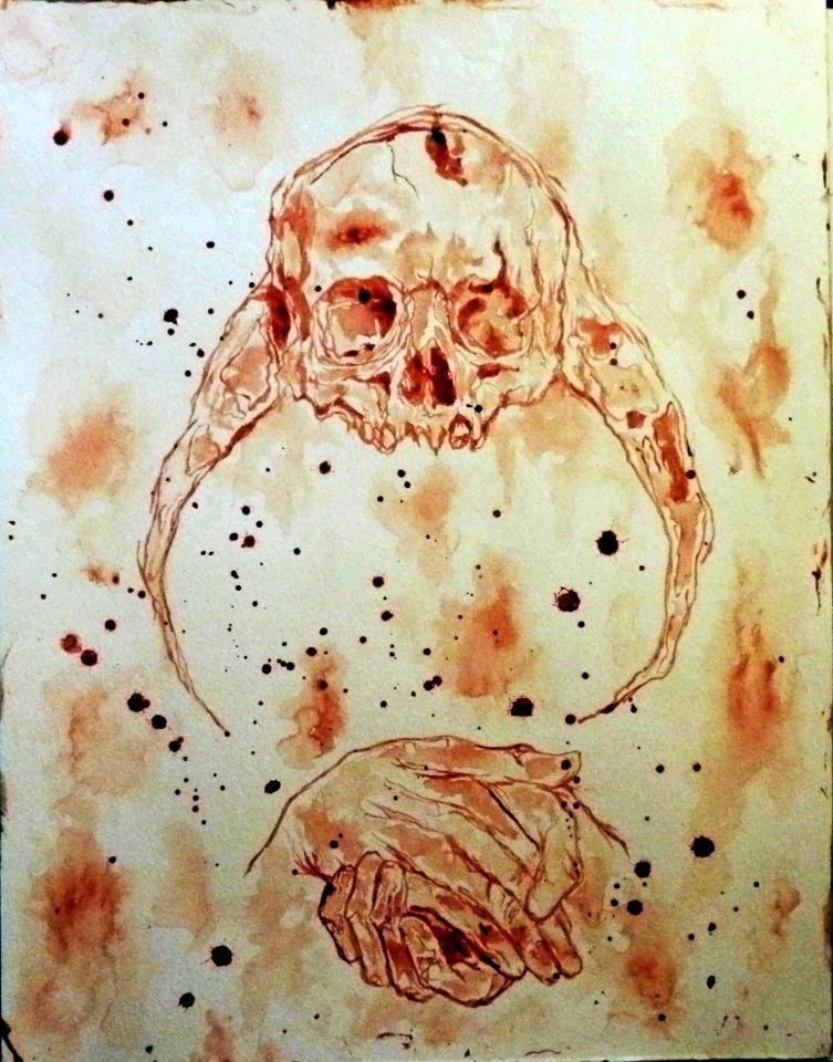 Maxime Taccardi (Artworks) He paints with his own blood.
