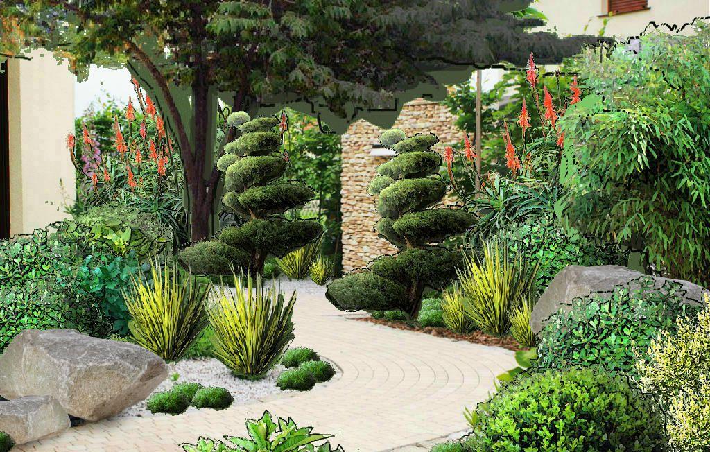 Sielskie Zycie W Ogrodzie Latem Szukaj W Google Topiary Garden Garden Drawing Plants
