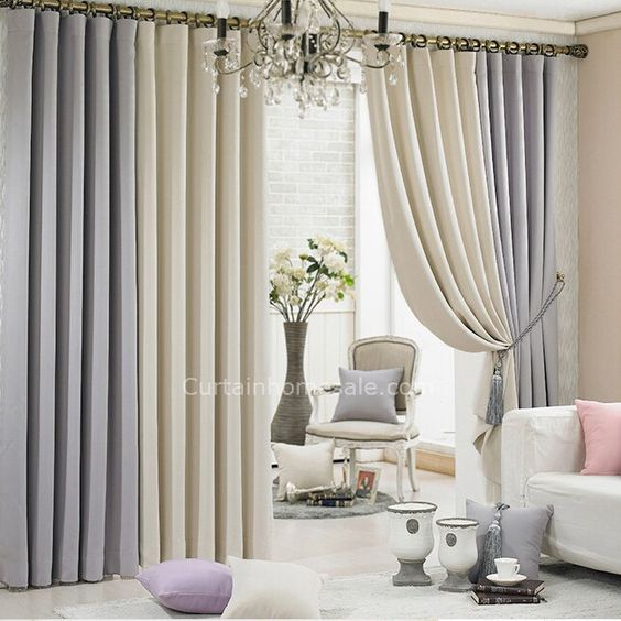 Grey And Beige Eco Friendly Thick Cheap Good Quality Curtains Chs4854 1 Jpg 643 643 Curtains Living Room Cool Curtains Living Room Decor #summer #curtains #for #living #room