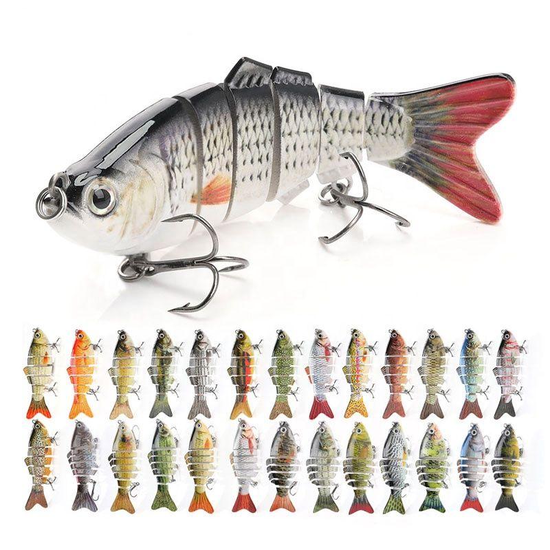 Hard Multi Jointed Lures Lifelike Fishing Bait Minnow Plug Swimbait Pike Perch