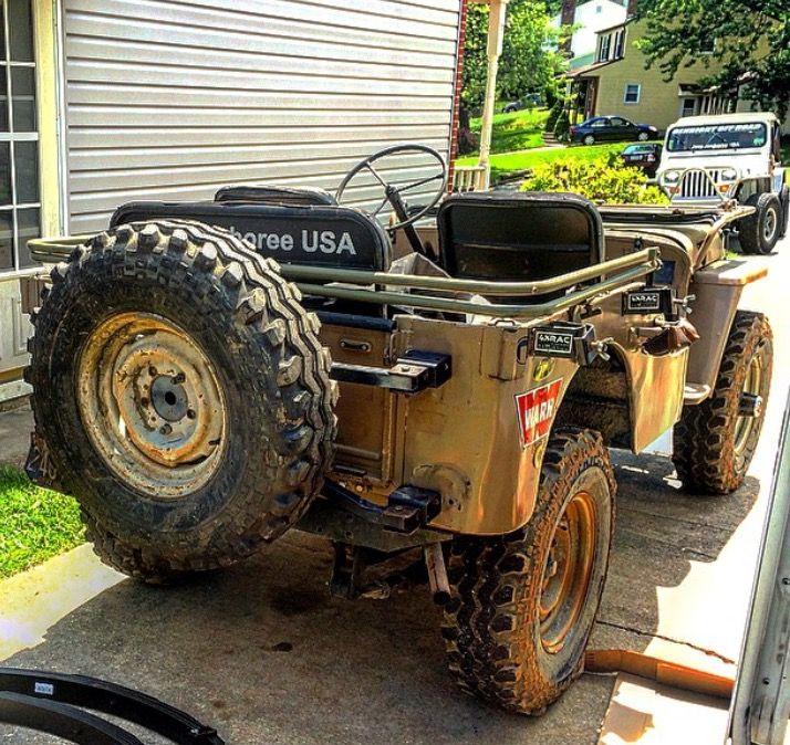 My 1945 Willys Overland cj2a Jeep CJ7 CJ8 Scrambler tire carrier ...