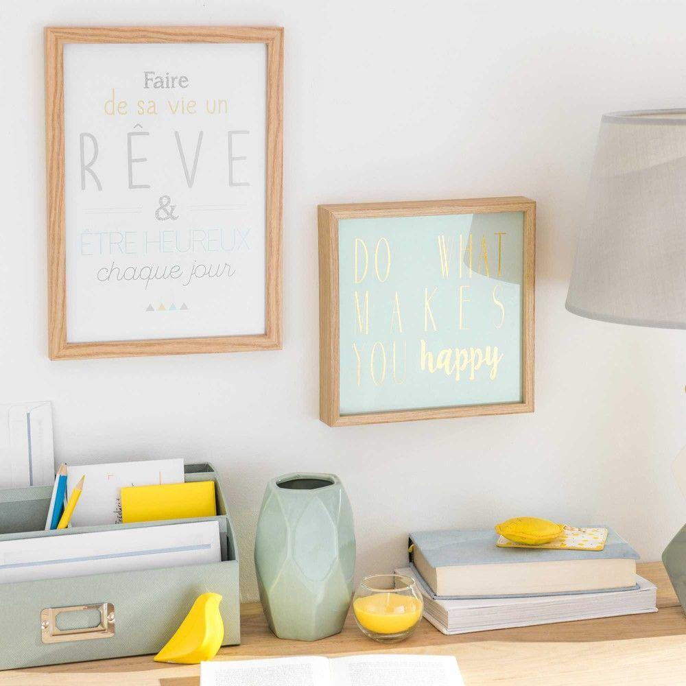 Tableau vert menthe imprimé 21x21cm ... | Deco chambre bébé | Pinterest