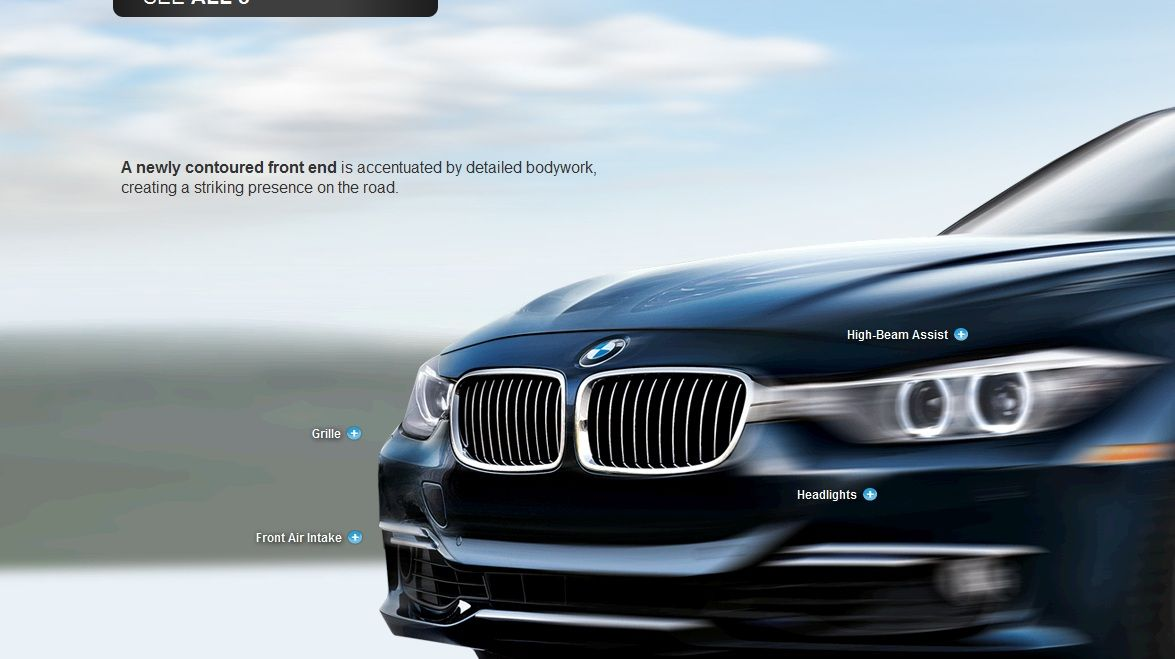 Great parallax scrolling website design BMW Web Designs