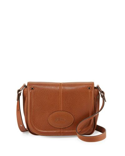 LONGCHAMP MYSTERY SMALL LEATHER CROSSBODY BAG, COGNAC.  longchamp  bags   shoulder bags  leather  crossbody  lining   2572686a09