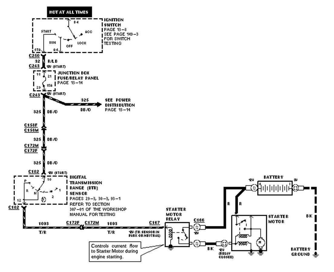 1998 Ford Starter Wiring