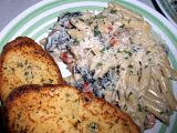 Sunday night, Zach requested My Famous Shrimp Alfredo. We eat more pasta than we probably should, but I figure it's because, well, it's yummy. The recipe is actually published, and worl…