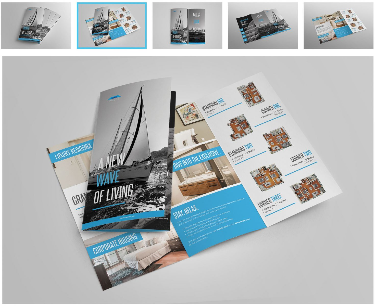 Apartment Brochure Design Collateral Business Cards Graphic Inspiration