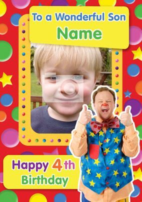 The Funky Pigeon brings you Mr Tumble Get these designs only