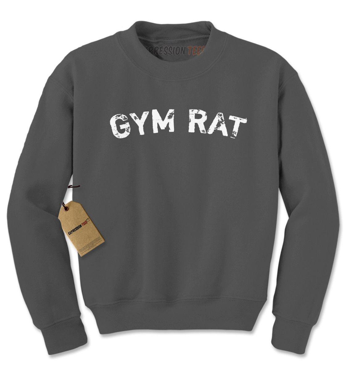 Gym Rat Workout Adult Crewneck Sweatshirt