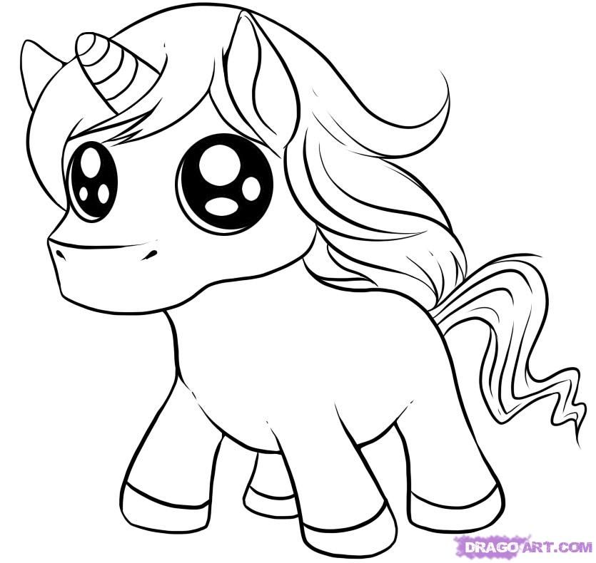 how to draw cute cartoon animals how to draw a chibi unicorn