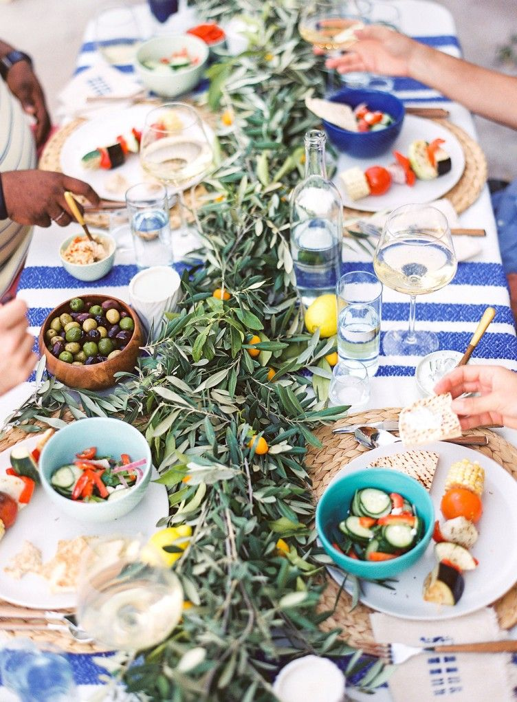 Amazing Greek Menu Ideas For Dinner Party Part - 12: We Go Greek For An Intimate Dinner Party Styled By Lauren Kelp.