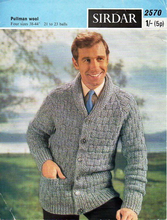 Mens knitting pattern pdf download mens cardigan knitting pattern ...
