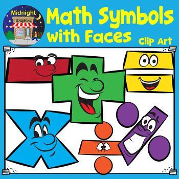 Math Symbols With Faces Clip Art Math Symbols Clip Art