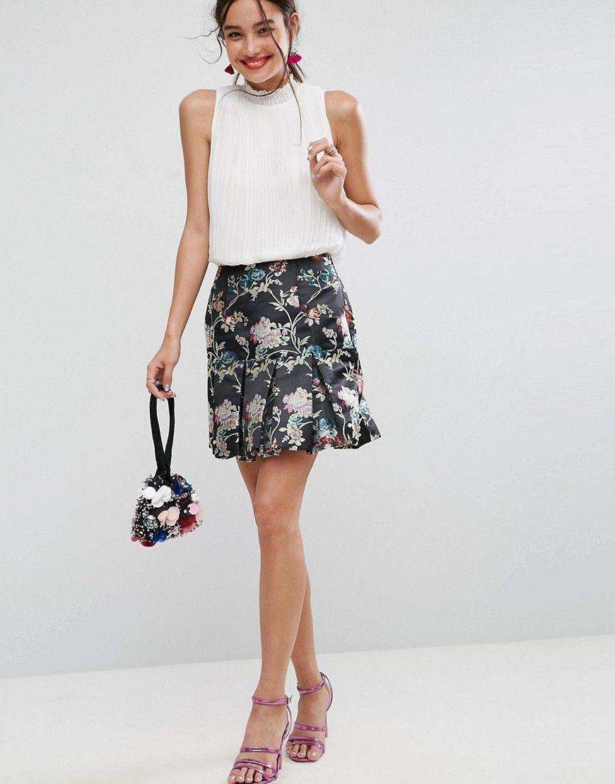 dc5d0f2caf00 ASOS Bubble Mini Skirt in Jacquard - Multi