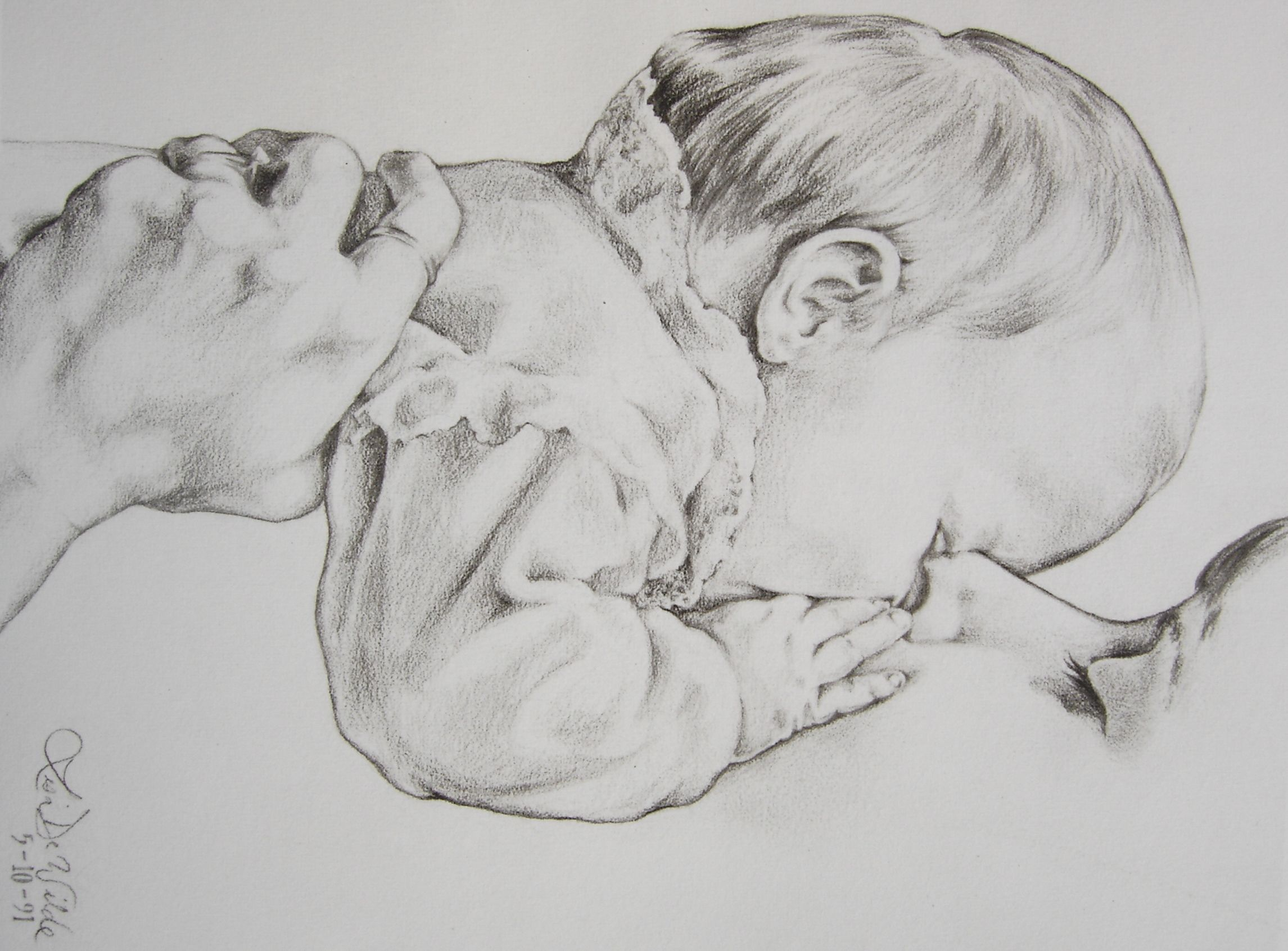 Mom kisses baby my portraits beyond in 2019 baby sketch