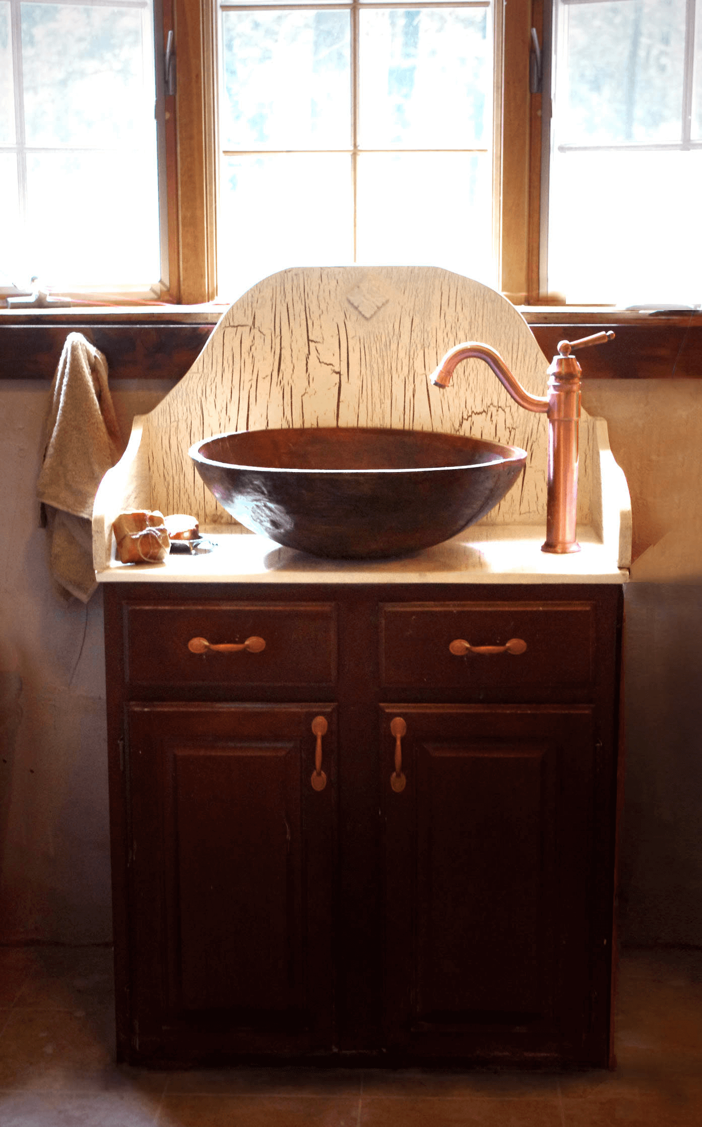 Antique Bathroom Vanity With Bowl Vessel Sink Bathroom Pinterest - Antique bathroom vanity with vessel sink
