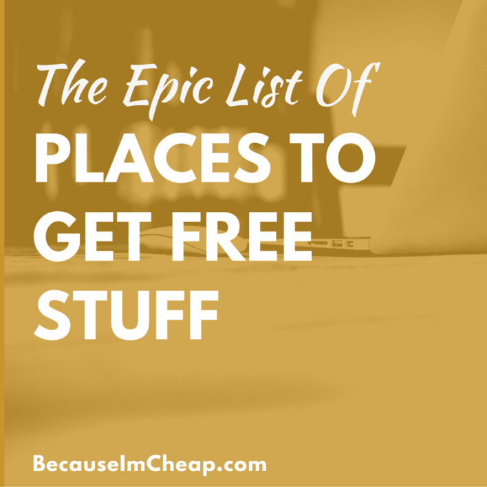 The epic list of places to get free stuff