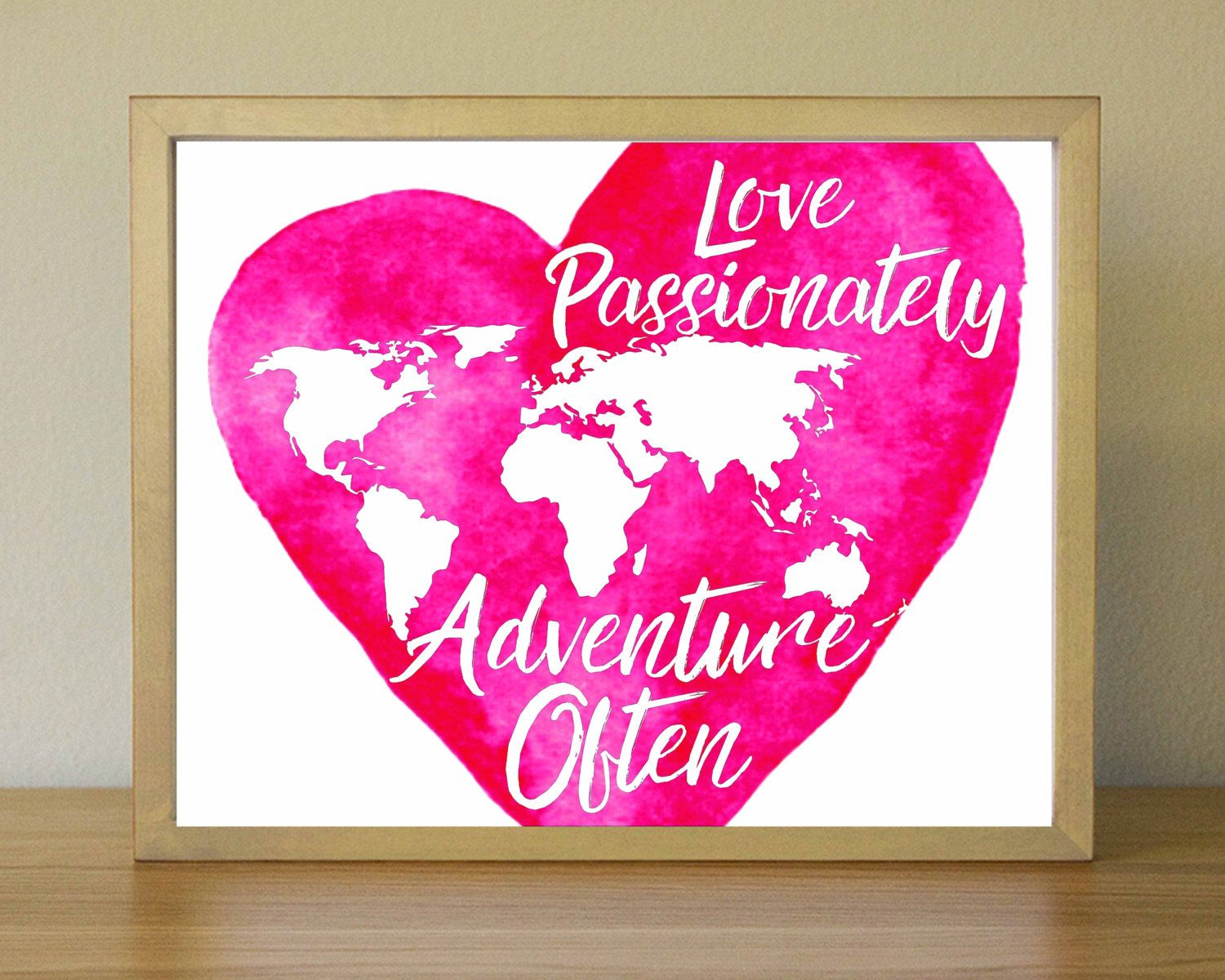 World continent map print world map on watercolor heart poster world continent map print world map on watercolor heart poster pink watercolor heart gumiabroncs Image collections