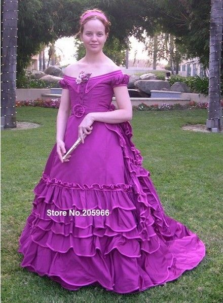 Custom Made-1869 Victorian Evening Ball Gown featured in Nineteenth-Century Fashion/Wedding&Bridal dress/Holiday Dress