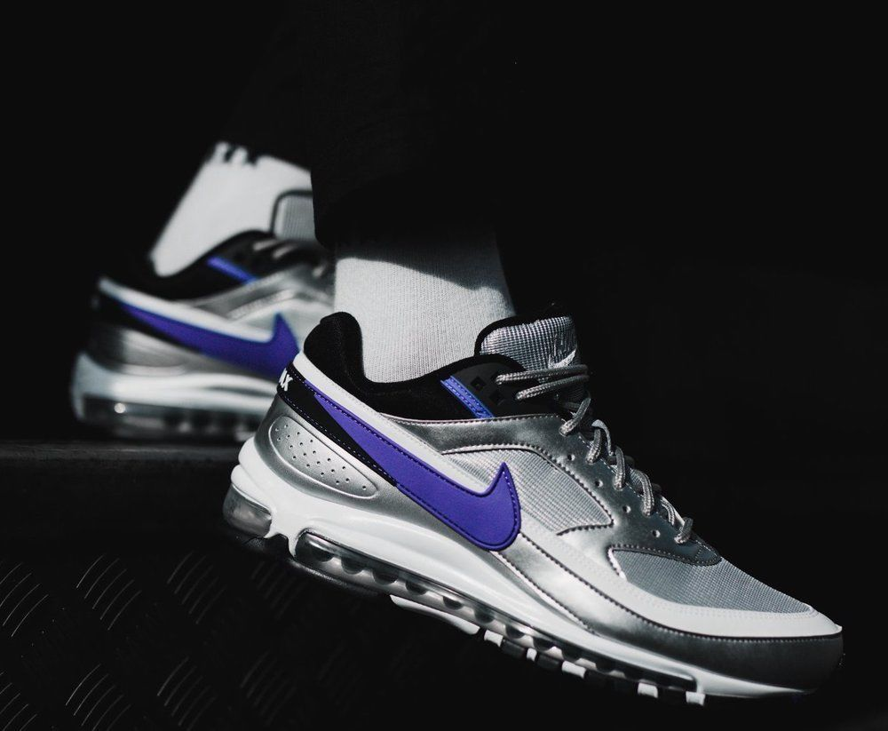 0aaec13b92 Nike Air Max 97 BW | Metallic Silver/Ultra Violet | Mens Trainers  [AO2406-002] #Nike #Lifestyle