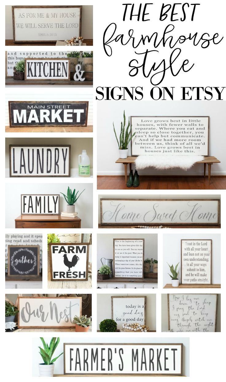 The Best Farmhouse Style Signs on Etsy -   20 farmhouse style signs ideas