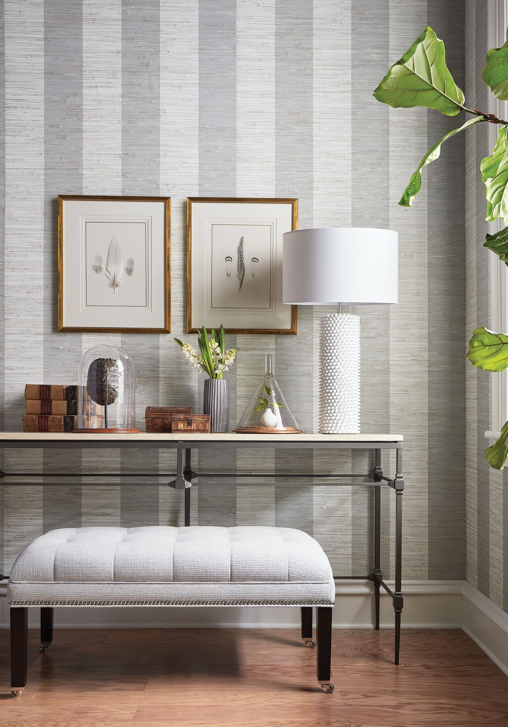 Crossroad Stripe From Grasscloth Resource 4 Collection Wallpaper Living Room Striped Wallpaper Hallway Striped Grasscloth Wallpaper