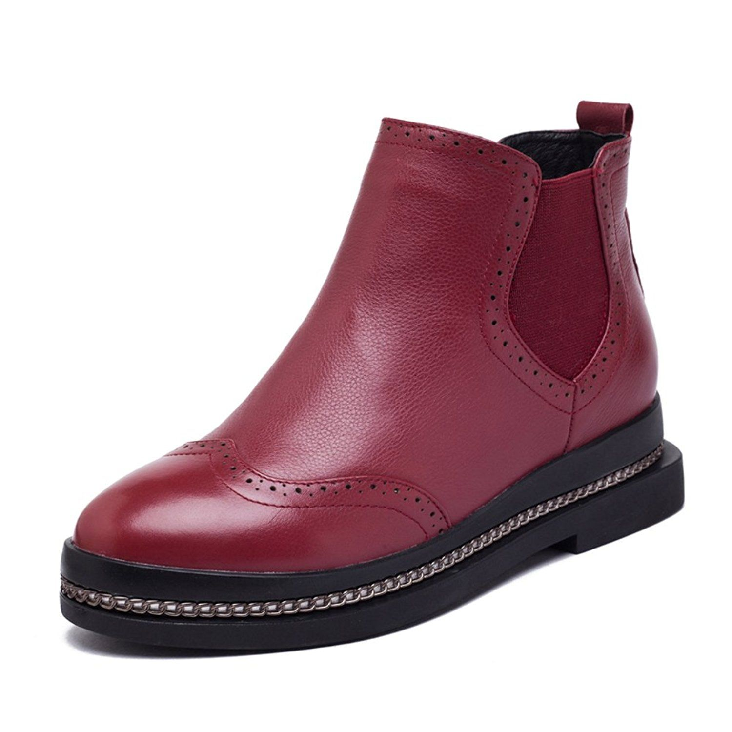 leather boots with/Ji Yinglun wind in autumn and winter shoes >>> See this great product.