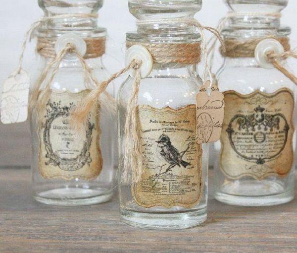 Ideas para decorar botellas y frascos de vidrio decorar - Ideas para decorar botellas ...