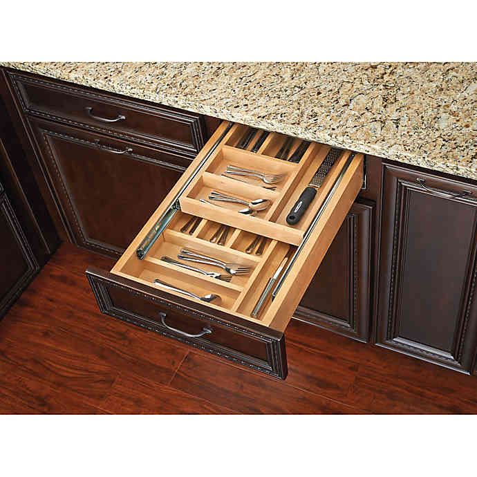 Rev A Shelf Double Tiered Cutlery Drawer Bed Bath Beyond Pull Out Drawers Rev A Shelf Adjustable Shelving