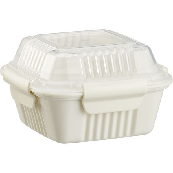 Organizing · Small White To-Go Container in Food Containers Storage | Crate and Barrel  sc 1 st  Pinterest & Small White To-Go Container in Food Containers Storage | Crate and ...