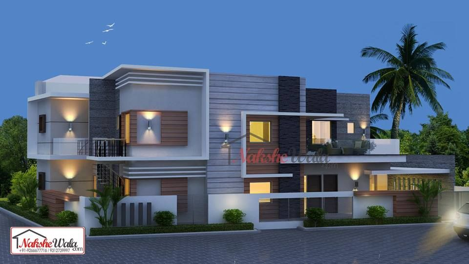 Double Storey Elevation Floor Plans Online, Indian Home Design, Building  Elevation, Indian Homes