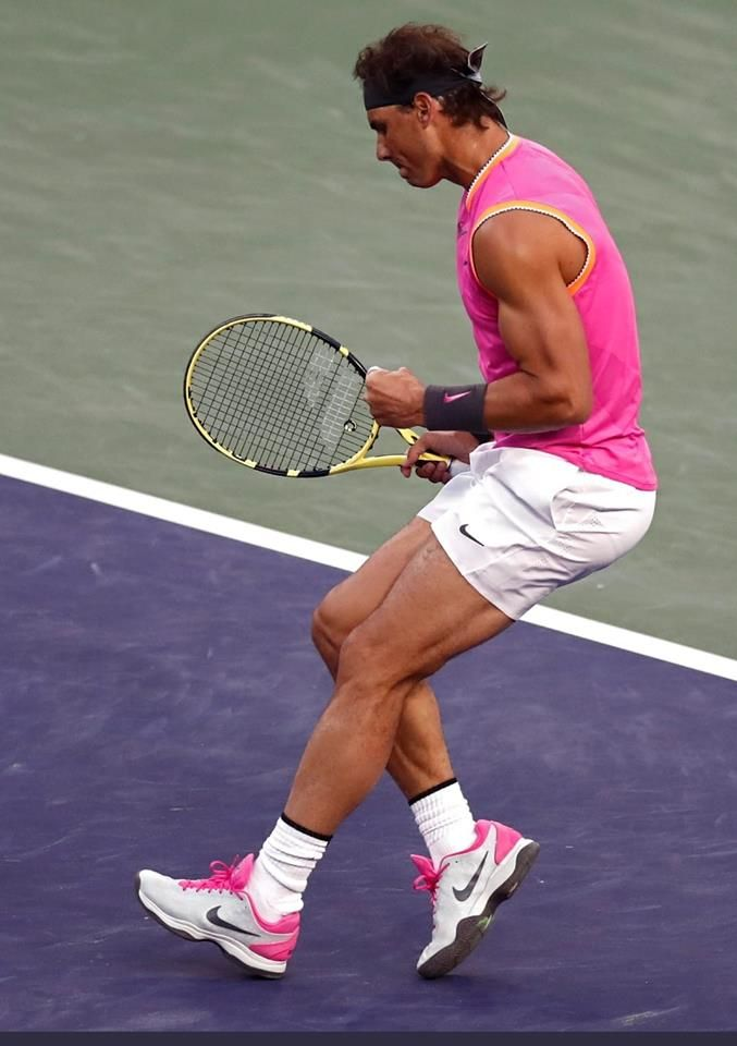 Rafael Nadal in 2019 indian wells
