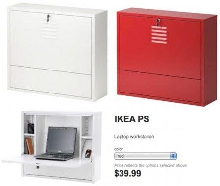 first rate 86770 682eb IKEA PS. Wall-mounted desk cabinet. | Kids Homework / Play ...
