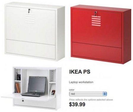 IKEA PS. Wall-mounted desk cabinet. | re-model ideas | Pinterest ...