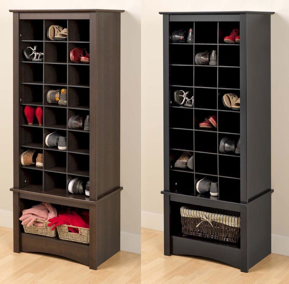 Details About Tall Shoe Cubbie Storage Cabinet For Entryway