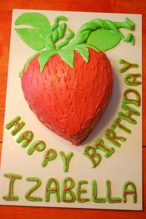 Awe Inspiring How To Make And Decorate A Strawberry Shaped Cake Personalised Birthday Cards Veneteletsinfo