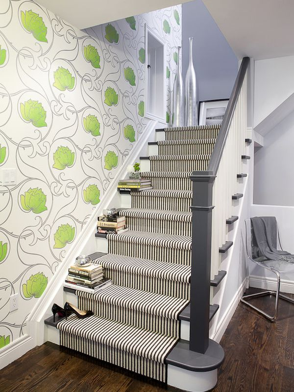 4 Ways Of Turning Your Floor Into An Eye Catching Display Painted StairsPainted StaircasesStaircase RunnerStaircase IdeasStaircase DesignStair Carpet