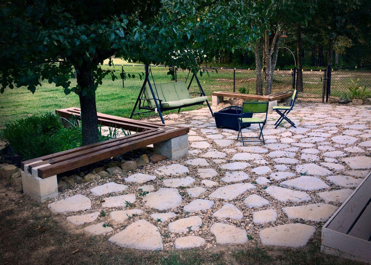 Diy patio on a budget cheap patio flagstone patio